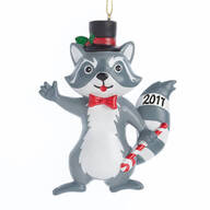 Woodland Raccoon Ornament