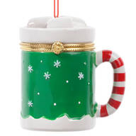 Hot Chocolate Mug Trinket Box Ornament
