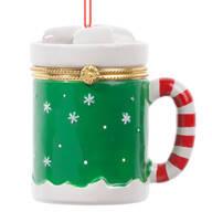 Hot Chocolate Mug Trinket Box Ornament