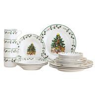 Tree Trimming Fine Ceramic Dinnerware