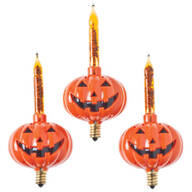 Pumpkin Bubble Light Replacements, Set of 3