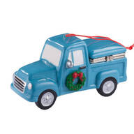 Truck with Wreath Trinket Box Ornament