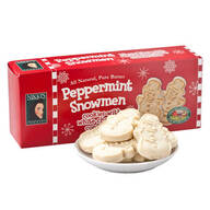 Peppermint Snowmen Cookies with White Chocolate