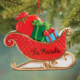 Personalized Christmas Sleigh Ornament