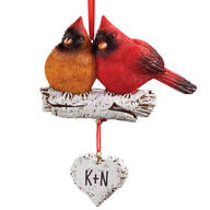 Personalized Cardinal Couple Ornament