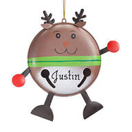Personalized Reindeer Bell Ornament