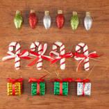 Classic Christmas Ornaments, Set of 14