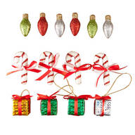 Classic Christmas Ornaments, Set of 14