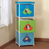 Children's 3-Bin Storage