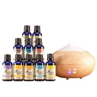 Healthful™ Naturals Premium Essential Oil Kit & 280 ml Diffuser
