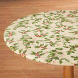 Holly Leaf Vinyl Elasticized Tablecovers