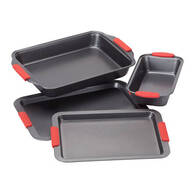 Cook's Essentials 4-Pc. Baking Set with Red Silicone Handles by Home-Style Kitchen™