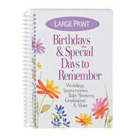 "Large Print ""Birthdays & Special Days to Remember"""