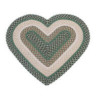 Wool Heart Shaped Accent Rug