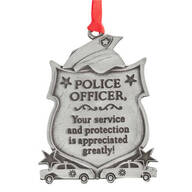 Police Officer Pewter Ornament