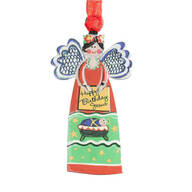 """Happy Birthday Jesus"" Angel Ornament"
