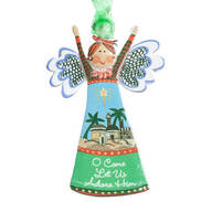 """O Come Let Us Adore Him"" Angel Ornament"