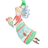 """""""Family is the Heart of Christmas"""" Angel Ornament"""