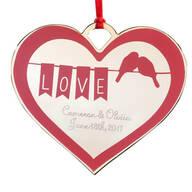 Personalized Lovebirds Ornament