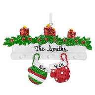 Personalized Family Mittens Ornament