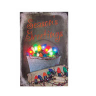Lighted Vintage Bulbs Canvas