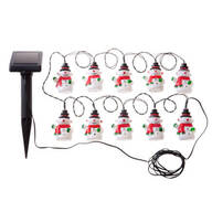 Snowman Solar Lights with Stake