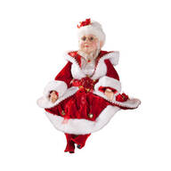Sitting Velvet Mrs. Claus, 30""