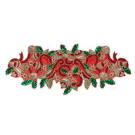 Deck the Halls Beaded Table Runner Centerpiece