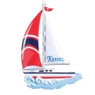 Personalized Sailboat Ornament
