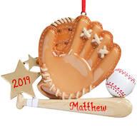 Personalized Baseball Mitt Ornament