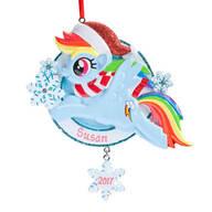 Personalized Blue Santa My Little Pony® Ornament