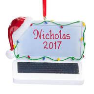 Personalized Santa Laptop Ornament