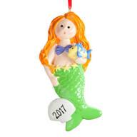 Personalized Mermaid Ornament
