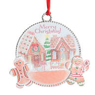 """Merry Christmas"" Gingerbread Ornament"