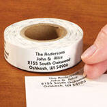 Clear Address Labels Roll - Roll of 200