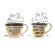 Coffee Friends Wall Hangings, Set of 2