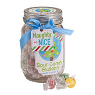 Sour Candy Buttons in Mason Jar