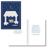 Satin Nativity Non- Personalized Card Set of 20