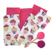 Cupcake Towel & Spatula 8-Pc. Set
