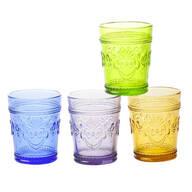 Victorian Colored Glassware, Set of 4