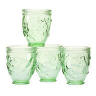 Hummingbird Colored Glassware, Set of 4