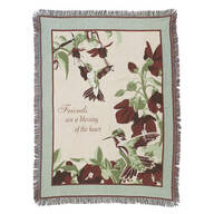 Hummingbird Blessings Tapestry Throw by OakRidge Comforts™