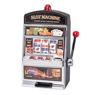 Large Slot Machine with Lights and Bank