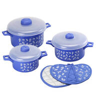 Microwave Pot and Pot Holder Set