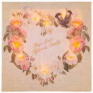 Personalized Valentine's Day Floral Wreath Lighted Canvas