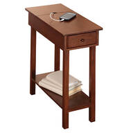 Chairside Table with USB Power Strip by OakRidge Accents™