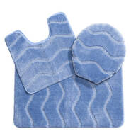 3-Piece Plush Wave Bathroom Set by OakRidge Accents™