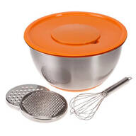 Grate, Prep and Mixing Bowl with Bonus Whisk