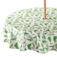 Garden Greenery Zippered Umbrella Table Cover