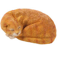 Resin Sleeping Cat Statue